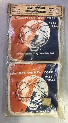 1964 World's Fair Pot Holders Sealed in Package