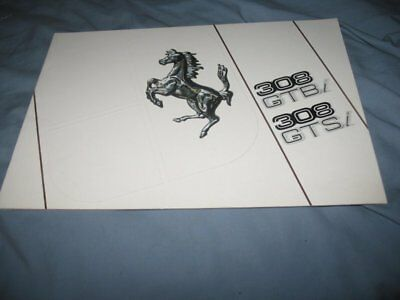 Ferrari 308GTBi/Si brochure catalog English only USA version 227/81
