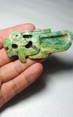 Pre-Columbian Olmec Jade dragon spoon From Mexico. 400 bc.
