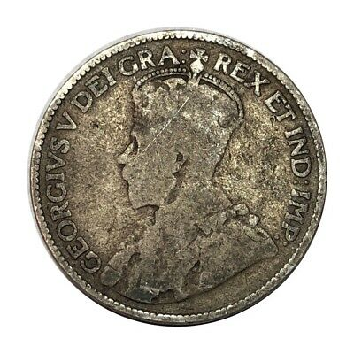 Silver - Key Date - 1913 Canada 25 Cents