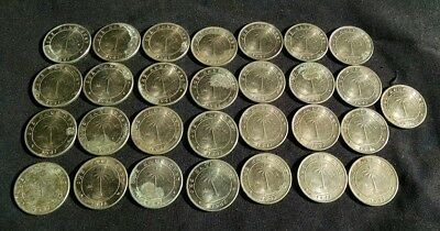 1941 Liberia One Half Cent coin lot of 29 * improper storage/corrosion read desc