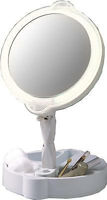 Floxite 7501-9 9X Magnifying Mirror Light Daylight Home & Travel Mate Foldable