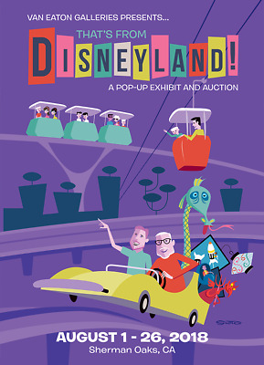 "SHAG Josh Agle - ""That's From Disneyland"" 24"" x 18"" SIGNED event poster MINT"