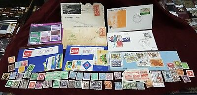 First Day Covers  Australian & Ww1 & Other Stamps Mixed Group