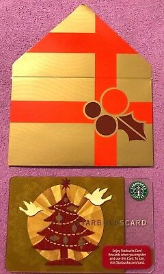 """Starbucks 2008 """"CHRISTMAS GLOW"""" Gift Card WITH BONSUS  XMAS SLEEVE-MINT"""