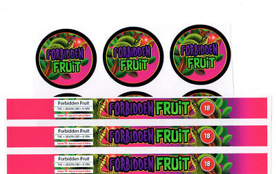 FORBIDDEN FRUIT Cali Tin Labels Stickers / Press In Tin Labels