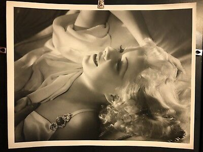 11X14 Silver Gelatin Matte Photo Jean Harlow By George Hurrell 1934