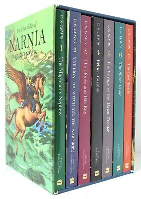 THE CHRONICLES OF NARNIA Collector's Edition Box Set C.S. Lewis full-color L2
