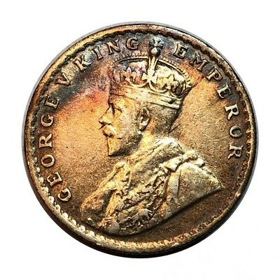 BRITISH INDIA-1916-ONE RUPEE-KING GEORGE V - SILVER COIN- Lot R-1