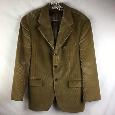 Chaps Ralph Lauren Wide Wale Wider Collar Corduroy Jacket Camel  39 Short 39S