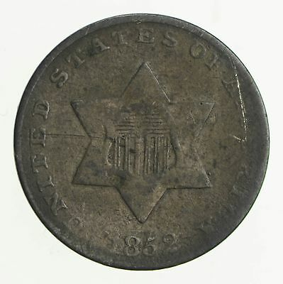 RARE Silver Trime - 1852 Three Cent Silver - 3 Cent Early US Coin *808
