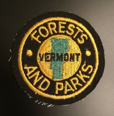 Vermont Forests And Patks, DNR Conservation Officer Game Warden VT Police Patch