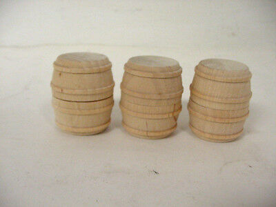 """G Scale Wood Drums Barrel, (lot of 3) 1 1/2"""" x 1"""""""