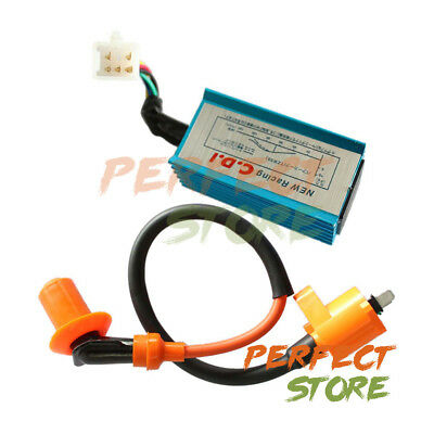 Racing CDI + Ignition Coil for Honda NQ50 NB50 Elite Spree SA50 CH80 DIO Scooter