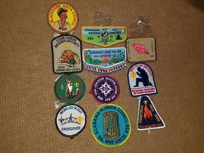 Boy Scouts Of America Embrodered Patches (10 Patches)
