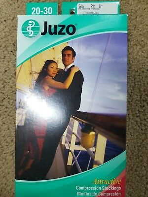 Juzo Compression Stockings 2501 AD, size III, BLACK, Below Knee, 20-30 mmHg CCL1