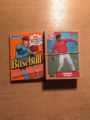 Cincinnati Reds Baseball Card Lot w/ Unopened Donruss Pack