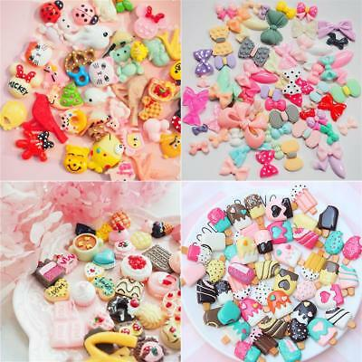 Slime Charms Mixed Candy Sweets Resin 100 Pieces Flatback Beads for DIY Crafts