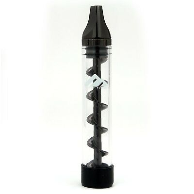 Twist Glass Blunt Pipe 3 Containers Grinder Brush Smoking Kit (Gun Metal)