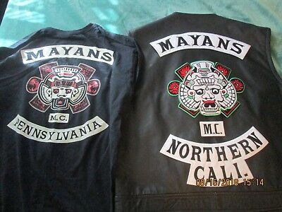 Motorcycle club colors MAYANS MC & club T shirt