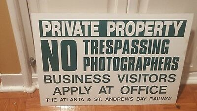 Atlanta & St. Andrews Bay Railway Sign