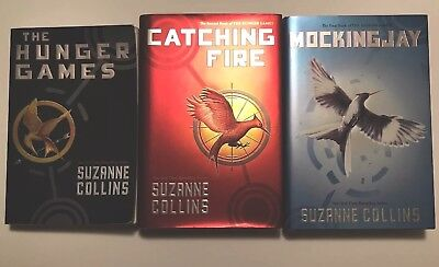 Hunger Games Trilogy 1-3 Set Book Lot 1 softcover, 2 hardcover