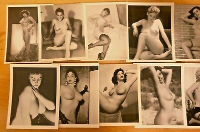 1950 Lot of 12 Vintage & Original Nude Photos~Busty Breasts Perfect Body Pinup