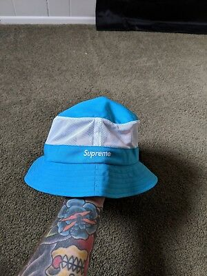 09ac96396b190 Supreme Cordura Mesh Crusher Light Blue SS18 M L SOLD OUT IN HAND NEW NWT