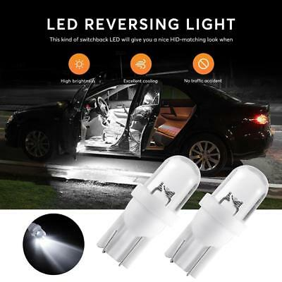 10x T10 Xenon White LED Car Interior Side Light Wedge Bulb Lamp Parking Auto 1W