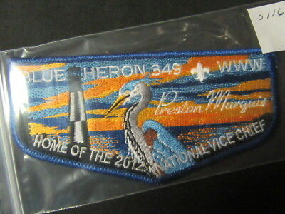 Blue Heron 349 Blue Border Home of the National Vice Chief Flap    mc20