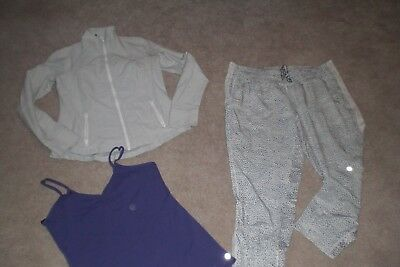 Lot of Rare Lululemon Button Up Ankle Pants, Define Jacket and Tank sz 12