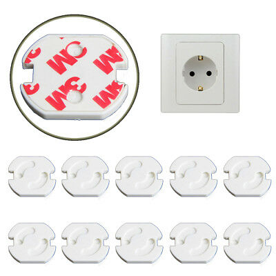 10PCS Electric mains wall plug Safety covers cap socket Baby child protection EU