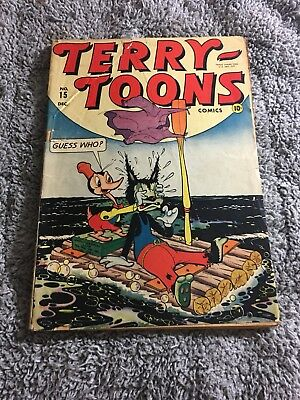 TERRY-TOONS COMICS # 15 1943 Timely Comics COVER ONLY
