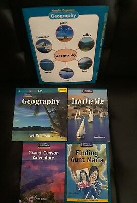 lot of 4 brand new National Geographic 4th grade early reader children's books