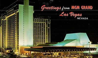 Vintage Postcard ---The MGM Grand Hotel Long Ago In Las Vegas Nevada