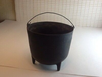 Antique No. 6 ? Cast Iron Bean Pot Peyote Drum Kettle Drum Cauldron Rare!