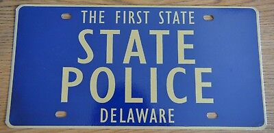Delaware State Police Front License Plate Hard to Find.