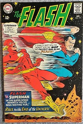 * The FLASH 175 (VF/VF+) 2nd Superman Flash Race! ORIGINAL OWNER Coll *
