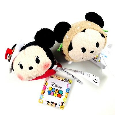 Disney Mickey and Minnie Mouse Hamburger Milkshake Tsum Tsum Plush Mini