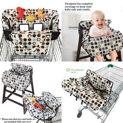 2 in 1 Shopping Cart High Chair Cover for Baby Toddler Boy Girl Carry Pouch New