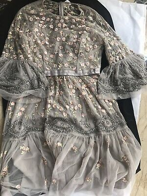 Dove Grey Needle and Thread Climbing Blossom dress NWT