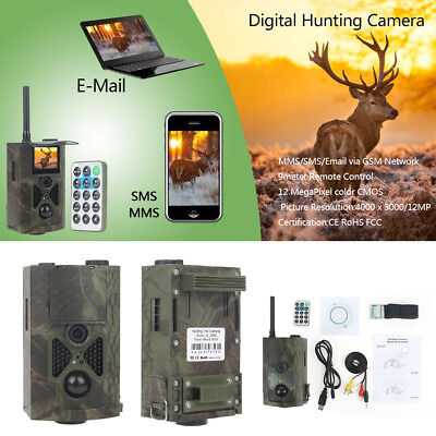HC-550M 16MP Hunting Trail Camera HD1080P GPRS GSM SMS Infrared Night Vision LOT