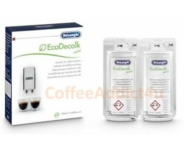 DeLonghi Descaler for Espresso Machines - 2 X 100ml - Eco Decalk