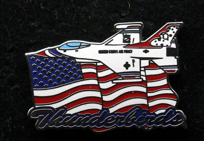 Us Air Force Thunderbirds Us Flag Nellis Afb F-16 Hat Lapel Pin Up Airshow