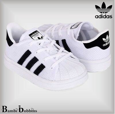 624454f10adb9 ... france adidas originals baby boys superstar trainers uk infant size 2 3  4 5 6 7