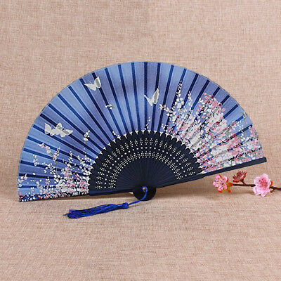 Best Chinese Style Pattern Print Wedding Party Silk Folding Hand Held Fans