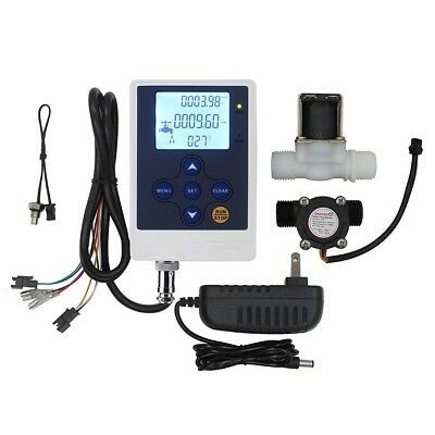 "Water Flow Control LCD Display+1/2""Solenoid Valve+1/2""Sensor Meter +12V Power"