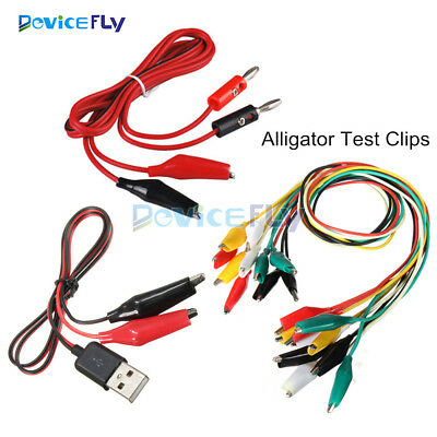 Alligator Test Clips Test Clips to USB Alligator Test Lead Clip To Banana Plug