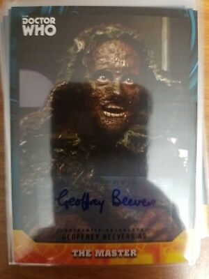 2017 Doctor Who Signature Series Geoffrey Beevers as The Master Auto Autograph
