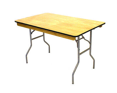Factory second 4' x 2'6'' Varnished Wooden Tables, folds flat, DIY Table